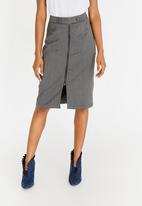 edit - Tab Detail Skirt Grey