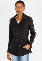 edit - Easy Fit Double Breasted Jacket Black