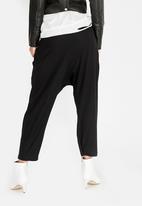 Vintage Zionist - Cropped Pants Black