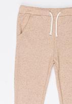 MINOTI - Lurex Fleece Jogger Mid Pink