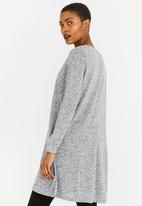 edit - Long Sleeve Tunic Dress Grey