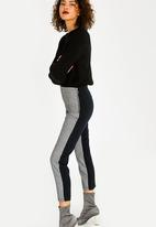c(inch) - Check Contrast Pants Grey