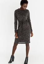 edit - Semi Fitted Dress with Drawcord Black