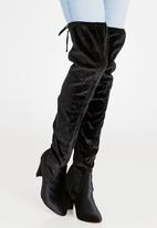 Sissy Boy - Heeled Thigh High Boots Black