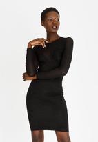 Sissy Boy - Lace Detail Midi Dress Black