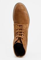 S.P.C.C. - Destressed Full Boots Tan