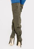 Madison® - Kenna Thigh-High Boots Dark Green