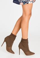 Madison® - Kase Sock Ankle Boots Brown