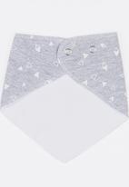 Pickalilly - Triangle Print Bandana Bib Grey