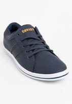 SOVIET - Palawan PU Low Cut Sneakers Navy
