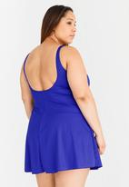 Jacqueline Plus - Swimdress Blue
