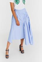 STYLE REPUBLIC - Asymmetrical Skirt Blue and White