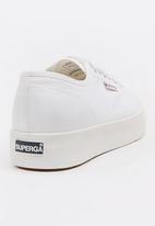 SUPERGA - Mid Wedge Sneakers White