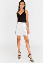 Vero Moda - Macie Mini Skirt Silver