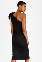 Gert-Johan Coetzee - One Shoulder Bow Dress Black