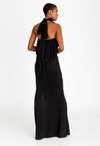Gert-Johan Coetzee - Pin Tuck Collar Maxi Dress Black