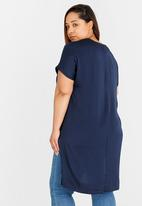 edit Plus - Hi-low Tunic Navy