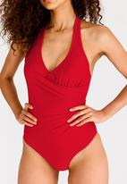 Lithe - Wrap-over One Piece Red