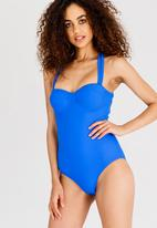 Lithe - Sweetheart Underwire One Piece Blue