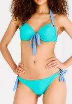 Lithe - Strappy Underwire  Bikini Set Aqua