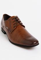 Gino Paoli - Perforation Oxford Shoe Tan