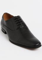 Gino Paoli - Perforation Toe Oxford Cap Shoe Black