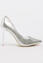 Plum - Moon Court Heels Silver