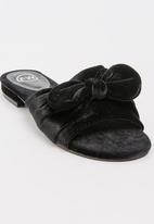 Footwork - Velvet Bow Detail Mules Black