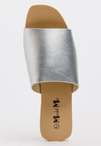 Model.Me - Jessica Peep-Toe Mules Silver