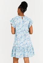 edit Maternity - Chiffon Flutter Sleeve Dress Floral