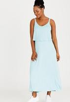edit Maternity - Maxi Dress with Overlay Mint