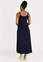 edit Maternity - Maxi Dress with Overlay Navy