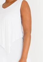 edit Maternity - V-neck Nursing Top White