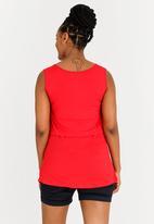 edit Maternity - V-neck Nursing Top Red