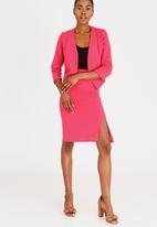 edit - High Waisted Pencil Skirt Pale Pink