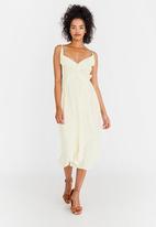 edit - Ruffle Strappy Dress Off White