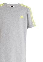 adidas Performance - Essentials 3 Stripes  Tee Grey