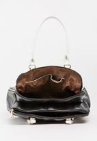BLACKCHERRY - Colourblock Tote Bag Black
