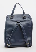 Marie Claire - Metallic Backpack Navy