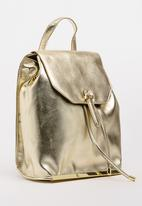Marie Claire - Metallic Backpack Gold