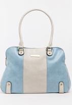 BLACKCHERRY - Colourblock Tote Bag Blue