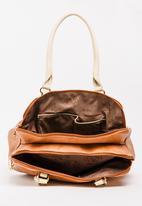 BLACKCHERRY - Colourblock Tote Bag Tan