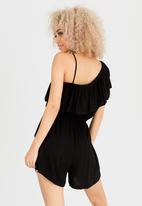 c(inch) - Frill Detail Playsuit Black