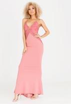 Sissy Boy - Print Detail Maxi Dress Pale Pink