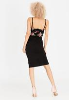 Sissy Boy - Daphne Embroidery Detail Dress Black