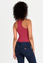GUESS - Ruffle Detail Bodysuit Red
