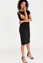 edit - Strappy Shift Dress Black
