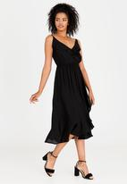 edit - Ruffle Strappy Dress Black