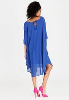 Isabel de Villiers - Drape Dress Cobalt