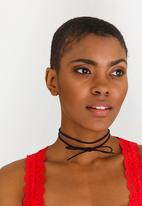 Jewels and Lace - Bow Choker Black